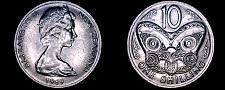 Buy 1969 New Zealand 10 Cent World Coin - Elizabeth II