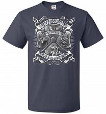 Buy Fantastic Crest Unisex T-Shirt Pop Culture Graphic Tee (2XL/J Navy) Humor Funny Nerdy