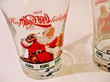 Buy Vintage 1996 Enjoy Coca Cola Classic Coke Happy Holidays set of 2 glasses EUC