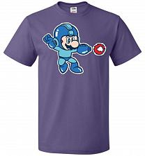 Buy Mega Mario Unisex T-Shirt Pop Culture Graphic Tee (6XL/Purple) Humor Funny Nerdy Geek