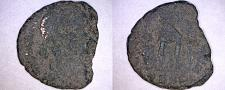 Buy 4th Century AD Roman Unknown Emperor AE16 - Soldier Dragging Captive Right
