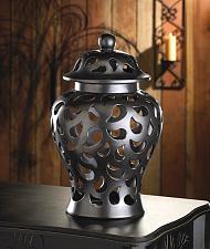 Buy *15685U - Paisley Cut-Out Pattern Black Ceramic Ginger Jar Vase