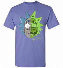 Buy Get Toxic Rick and Morty Unisex T-Shirt Pop Culture Graphic Tee (XL/Violet) Humor Fun