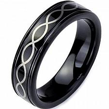 Buy coi Jewelry Black Tungsten Carbide Infinity Wedding Band Ring