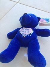 Buy I love myrtle beach blue stuffed teddy bear dark turquoise cobalt blue