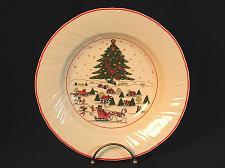 Buy VIntage Christmas Rimmed Soup Bowl ARPO Horse Sleigh Tree Stars Vintage