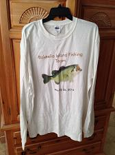 Buy mens Bokeelia Island Fishing Team may 26 2014 long sleeve white shirt XL anvil