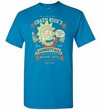 Buy Crazy Rick's Schwifty Ale Unisex T-Shirt Pop Culture Graphic Tee (2XL/Sapphire) Humor