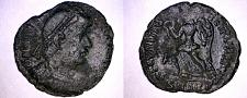 Buy 348-51AD Roman Imperial Valans AE18 Victory Advancing Left SMAQP Aquileia Mint