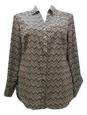 Buy STYLE&CO Women Button Down Shirt PLUS SIZE 0X Chevron Collared Neck Long Sleeve