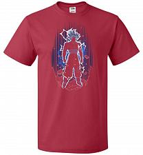 Buy Shadow Of The Ultra Instinct Unisex T-Shirt Pop Culture Graphic Tee (3XL/True Red) Hu