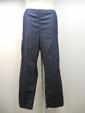 Buy Women Dark Denim Pants SIZE 2XL Elastic Waist Straight Legs Inseam 32