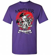 Buy Mother of Dragons Unisex T-Shirt Pop Culture Graphic Tee (4XL/Purple) Humor Funny Ner