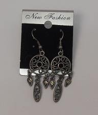 Buy Women Earrings Rhinestones Pewter Tones Drop Dangle Hook Fasteners NEW FASHION