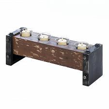 Buy *15546U - Pine Wood Bolt Accent Tea Light Candle Holder