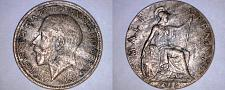 Buy 1915 Great Britain Half (1/2) Penny World Coin - UK - England - George V
