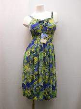 Buy Womens Sundress Floral Multi Color Size M Spaghetti Strap Smocked Elastic Waist