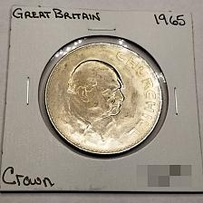 Buy 1965 Great Britain 1 Crown World Coin - Winston Churchill - Lot#9995-OS