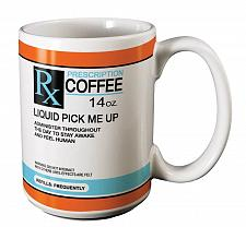 Buy :10777U - Prescription Rx 14oz Coffee Mug Luquid Pick Me Up