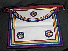 Buy Vintage Masonic Master Mason Apron Regalia Multi Color Freemason Ceremonial