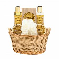 Buy *17911U - Honey Almond Spa Bath Set Woven Basket