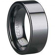 Buy coi Jewelry Black Tungsten Carbide Pipe Cut Wedding Band Ring