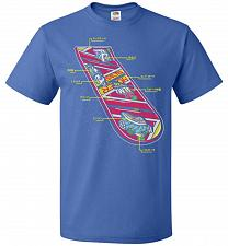 Buy Anatomy Of A Hover Board Unisex T-Shirt Pop Culture Graphic Tee (3XL/Royal) Humor Fun