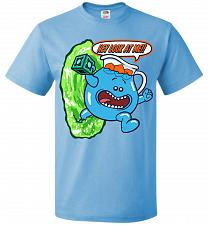 Buy Meseeks Man Unisex T-Shirt Pop Culture Graphic Tee (3XL/Aquatic Blue) Humor Funny Ner