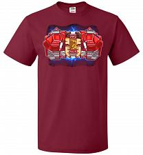 Buy Red Ranger Unisex T-Shirt Pop Culture Graphic Tee (XL/Cardinal) Humor Funny Nerdy Gee