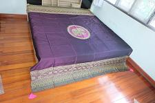 Buy Purple King And Queen Bed Cover Elephant Khodchasarn Fabric 205cm. X 260cm.