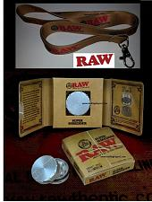 Buy RAW Rolling Papers Brand LANYARD and the NEW HERB/Tobacco GRINDER/Super Shredder