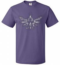 Buy Triforce Smoke Unisex T-Shirt Pop Culture Graphic Tee (3XL/Purple) Humor Funny Nerdy