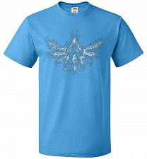 Buy Triforce Smoke Unisex T-Shirt Pop Culture Graphic Tee (L/Pacific Blue) Humor Funny Ne