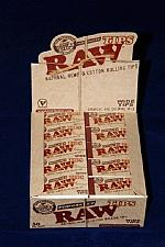 Buy 50 PACKS RAW PAPERS PERFORATED ROLLING TIPS NATURAL HEMP WIDE 2500 TIPS FULL BOX