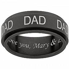 Buy coi Jewelry Tungsten Carbide Daddy Ring With Custom Engraving