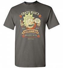 Buy Crazy Rick's Schwifty Ale Unisex T-Shirt Pop Culture Graphic Tee (M/Charcoal) Humor F