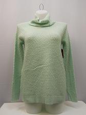 Buy Tunic Sweater Womens Size L FADED GLORY Turtle Neck Medium Popcorn Knit Green