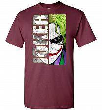 Buy Joker Unisex T-Shirt Pop Culture Graphic Tee (S/Maroon) Humor Funny Nerdy Geeky Shirt