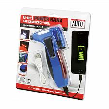 Buy :10686U - 6 In 1 Car Auto Emergency Tool W/USB Power Bank Flashlight