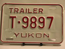 Buy Yukon License Plate Trailer T 9897 NOS Truck New Old Stock