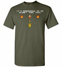 Buy It's Dangerous To Go Alone! Classic Zelda Unisex T-Shirt Pop Culture Graphic Tee (4XL