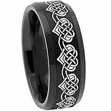 Buy coi Jewelry Black Tungsten Carbide Heart Ring