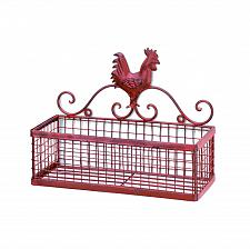 Buy *15877U - Red Rooster Single Rack Metal Wall Basket