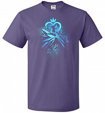 Buy Face of The Key Blade Unisex T-Shirt Pop Culture Graphic Tee (XL/Purple) Humor Funny