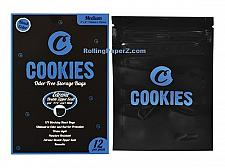 "Buy COOKIES SF ODOR/STINK FREE STORAGE BAGS Medium 4""x 6"" (12 pack) BLACK 102x152mm"