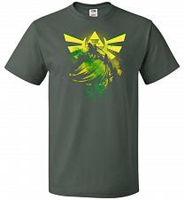 Buy Hero of Time Unisex T-Shirt Pop Culture Graphic Tee (6XL/Forest Green) Humor Funny Ne