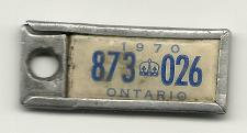 Buy 1970 License Plate War Amps Key Tag Ontario 873 026 Key Fob Vintage