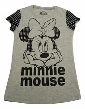 Buy Graphic T- Shirt DISNEY MINNIE MOUSE Girls Grey Size L 10-12 Short Sleeves