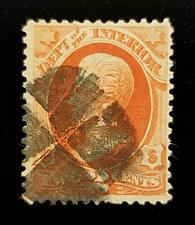 Buy 1873 2c Official Department of Interior Stamp, Vermilion, Jackson Scott O16 Used