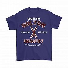 Buy Game Of Thrones Inspired House Bolton Dreadfort Unisex T-Shirt Pop Culture Graphic Te